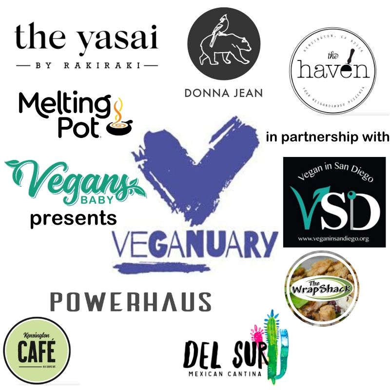 vegan dining month in san diego is brought to you by vegans, baby and vegan in san diego.